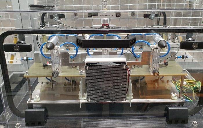 Caption SuperGrid Institute Erosion test rig developed for NanocompEIM 2