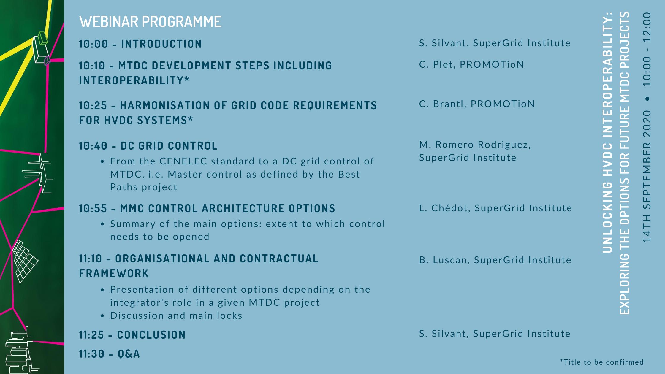 Interoperability webinar programme