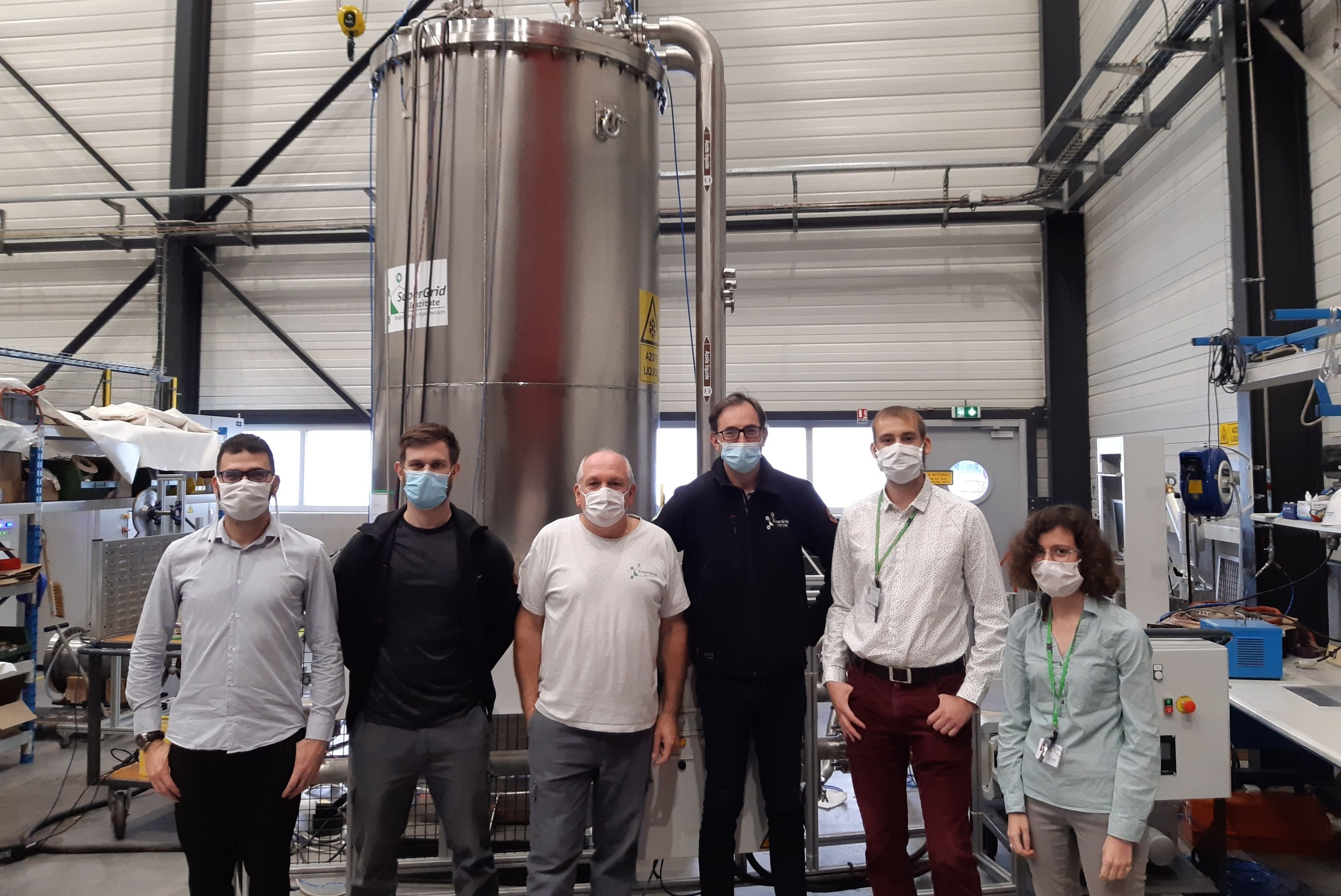 SuperGrid Institute's teams reached a very important milestone with regards to exploiting our cryostat.