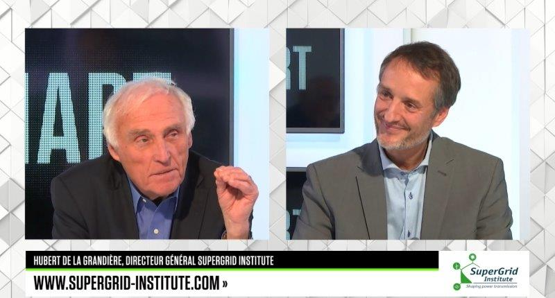 Hubert de la Grandière on the set of SMART PME with Jean-Marc Sylvestre