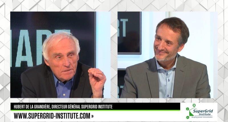 Hubert de la Grandière on the set of SMART PME with Jean-Marc Sylvestre