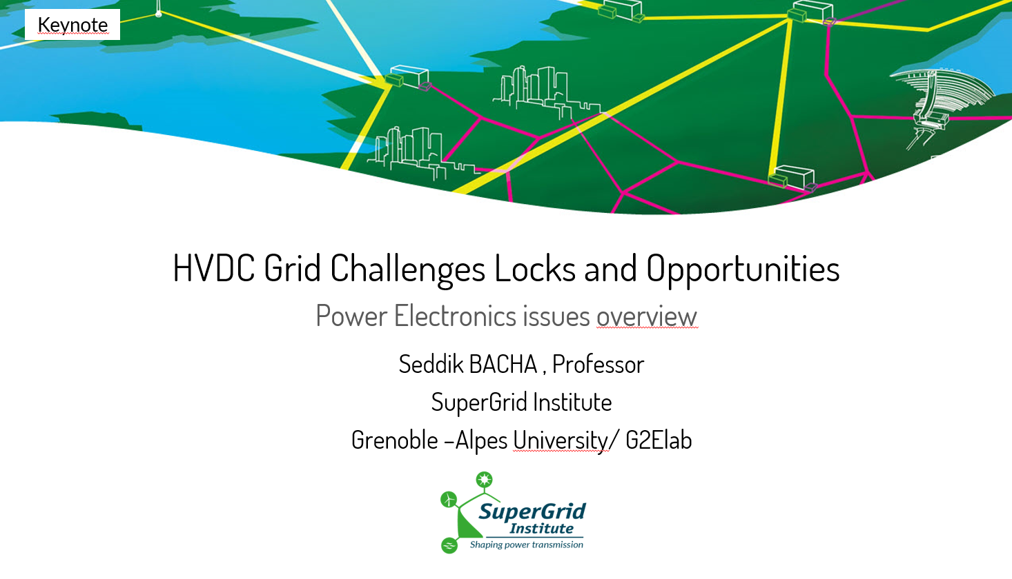 Seddik Bacha's keynote presentation at PCIM Europe 2021 is now available online