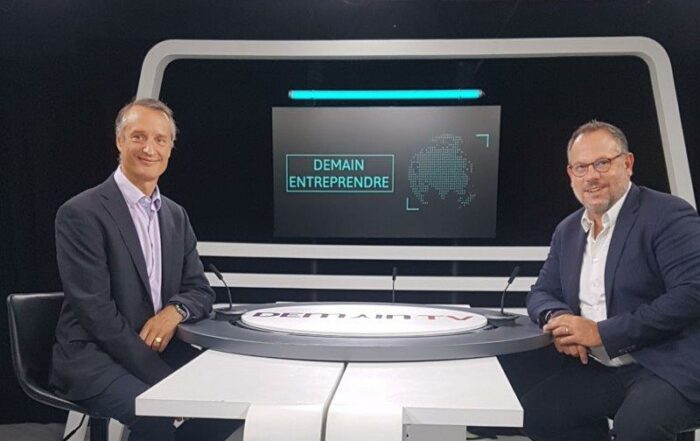 """A new one-to-one television interview with our CEO, on the set of """"Demain Entreprendre""""!"""